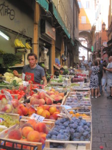 One of the markets in Bologna