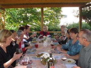 Lunch under the pergola