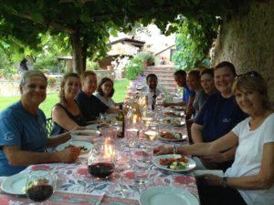 Al fresco dining at our villa